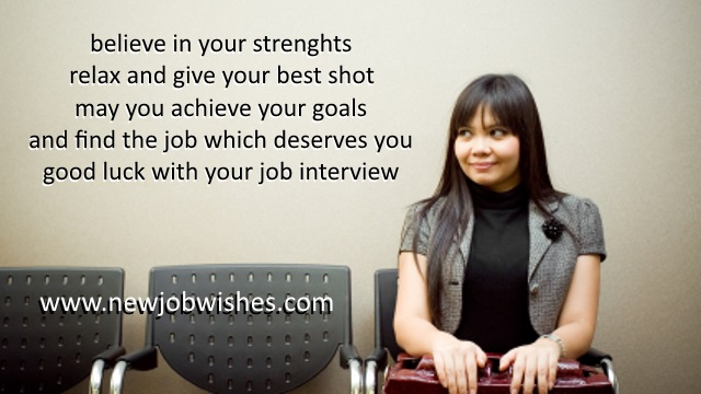 best wishes for job interview sms